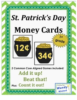 St. Patrick's Day Math Money Cards (Common Core Aligned) F