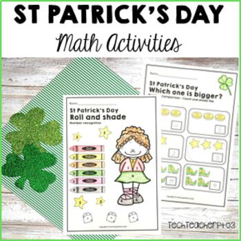 St Patrick's Day Math Pack Addition, Graphing, Ordinal Num
