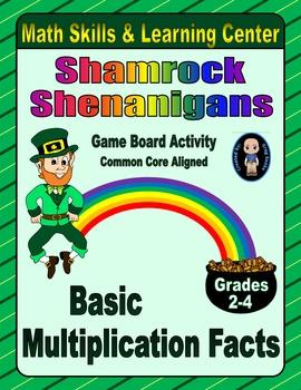 St. Patrick's Day Math Skills & Learning Center (Basic Mul
