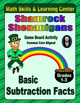 St. Patrick's Day Math Skills & Learning Center (Basic Sub