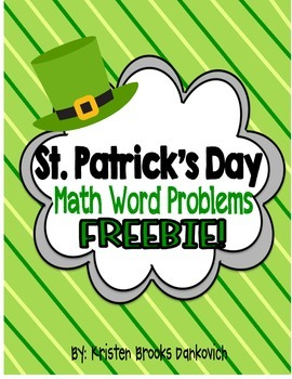 St. Patrick's Day Math Word Problems! (FREEBIE!)