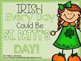 St. Patrick's Day Math and Literacy Centers for March (Com
