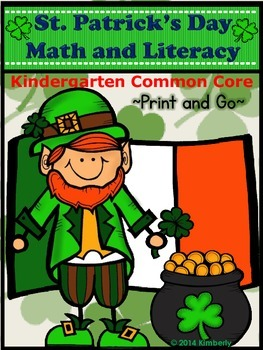 St. Patrick's Day Math and Literacy (Print & Go-Common Cor