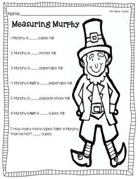 St. Patrick's Day Measuring Worksheet