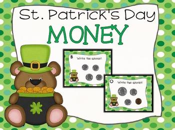 St. Patrick's Day Money Task Cards