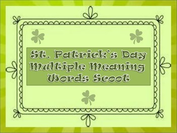 St. Patrick's Day Multiple Meaning Word Scoot