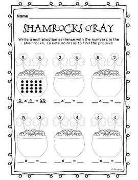 St. Patrick's Day - Multiplication Arrays