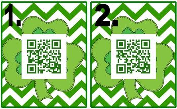 St. Patrick's Day Multiplying Fractions QR Codes