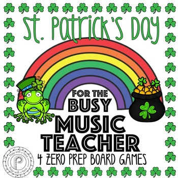 St. Patrick's Day Music Game Bundle: 4 no prep board games!