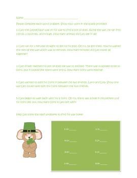 St. Patrick's Day Math Assessment