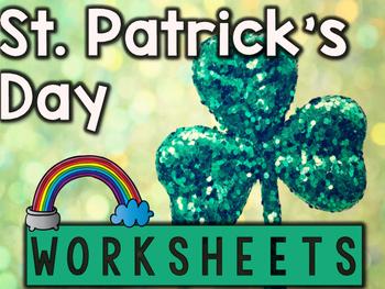 St. Patrick's Day Worksheets & Printables