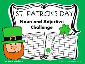 St. Patrick's Day Noun & Adjective Challenge