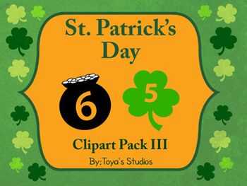 St. Patrick's Day Number 0-9 Clipart Pack III