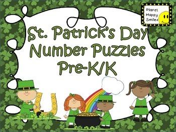 Number Puzzles: St. Patrick's Day ~ Pre-K ~ Kindergarten
