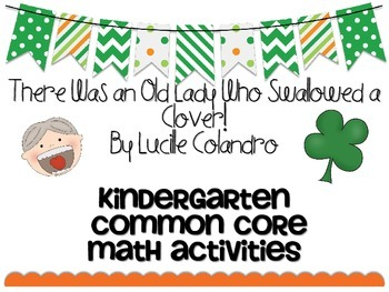 March St. Patrick's Day Old Lady Clover Common Core Math A