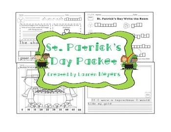 St. Patrick's Day Packet for Kindergarten