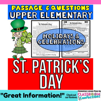 St. Patrick's Day: Passage and Questions: Reading Comprehe