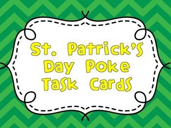 St. Patrick's Day Poke Cards