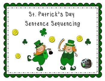 St. Patrick's Day Pot of Gold Sentence Sequencing