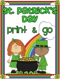 St. Patrick's Day Math and Literacy March No Prep Pack