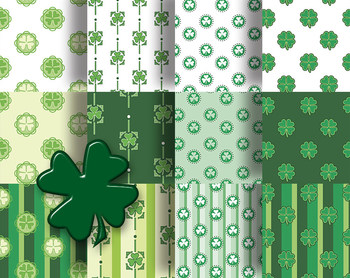 St Patrick's Day Printable Papers For Crafts or Decoration