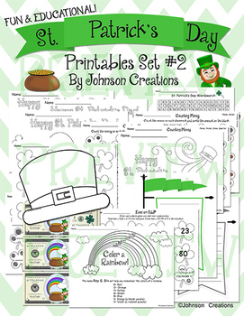 St. Patrick's Day Printables Set #2