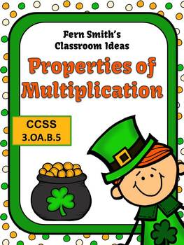 St. Patrick's Day Math Properties of Multiplication Center