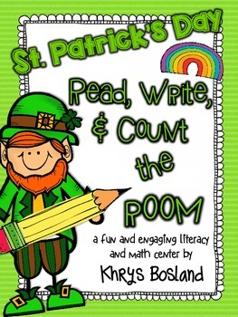 St. Patrick's Day Read, Write, and Count the Room {Literac