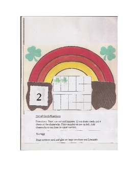 St. Patrick's Day Reading and Math Acitivites