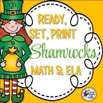 St. Patrick's Day Ready, Set, Print ELA and Math