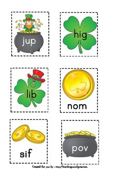 St. Patrick's Day Real Nonsense sight word packet