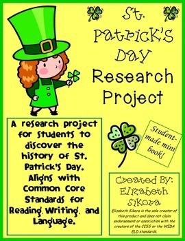 St. Patrick's Day Research Project