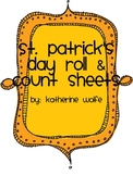 St. Patrick's Day Roll & Count Sheets