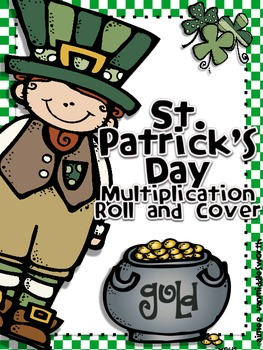St. Patrick's Day Roll and Cover for Multiplication Center