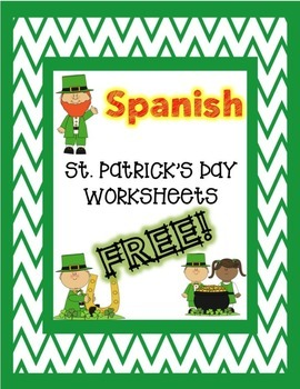 St. Patrick's Day SPANISH Worksheets