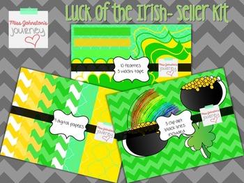 St. Patrick's Day Seller Kit {Digital Papers, Frames, Wash