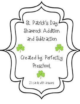 St Patrick's Day Shamrock Addition and Subtraction