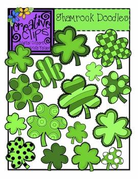 St. Patrick's Day Shamrock Doodles {Creative Clips Digital