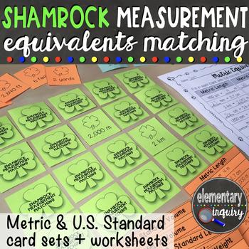 St. Patricks Day Shamrock Measurement Equivalents Matching