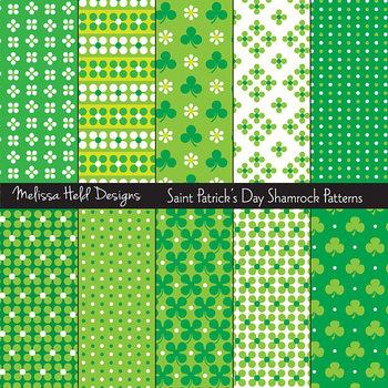 St. Patrick's Day Shamrock Patterns 2