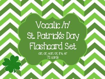 St. Patrick's Day Shamrock Vocalic R flashcards
