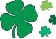 St. Patrick's Day Shamrocks (clovers) Clip Art