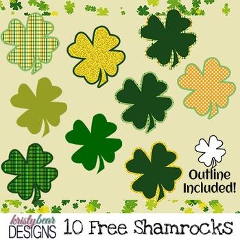 St. Patrick's Day Clipart - Shamrocks