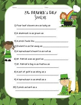 St. Patrick's Day Similes