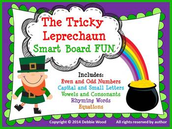 SMART Board St. Patrick's Day The Tricky Leprechaun (Presc