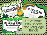 St. Patrick's Day Speech/ Language Bundle