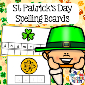 St Patrick's Day Spelling Task Cards
