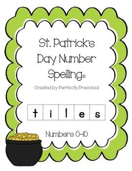 St Patrick's Day Spelling Tiles