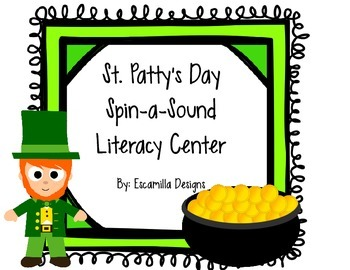 St. Patrick's Day Spin-a-Sound Literacy Center