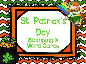 St. Patrick's Day Stamping & Matching Activity